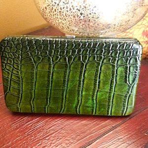 Kristine hard frame flat wallet